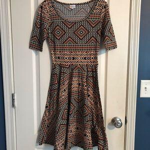 Lularoe Aztec print dress